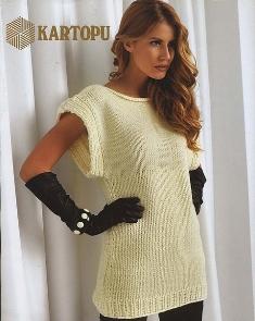 Вязание простые модели, вязание спицами туники платья 88