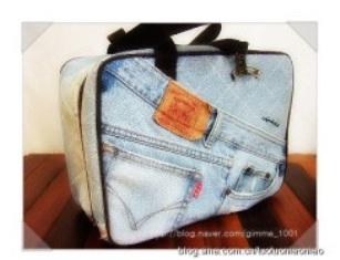 Сумка-саквояж из старых джинсов своими руками